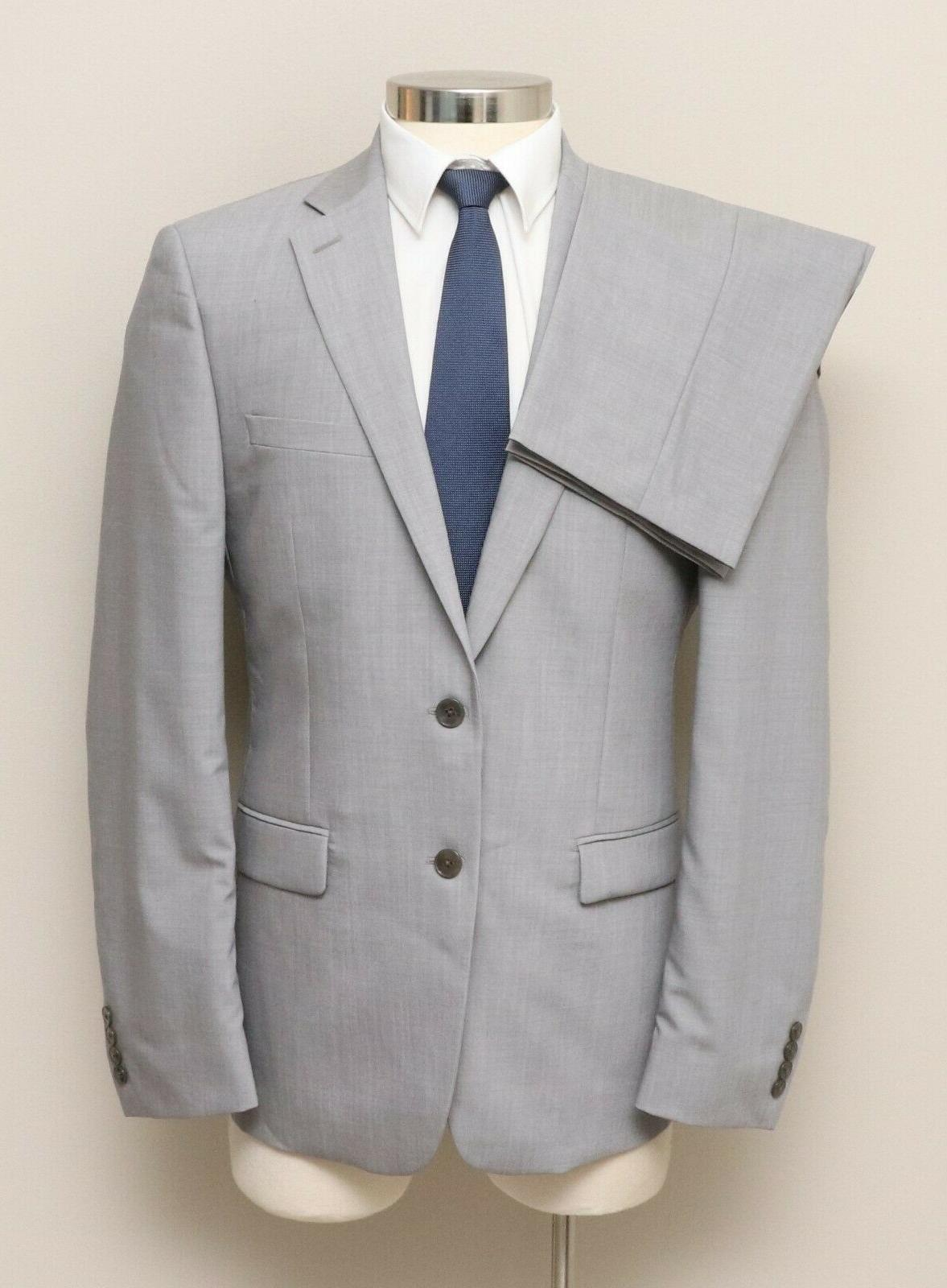 nwt mens 40r 2 piece light grey
