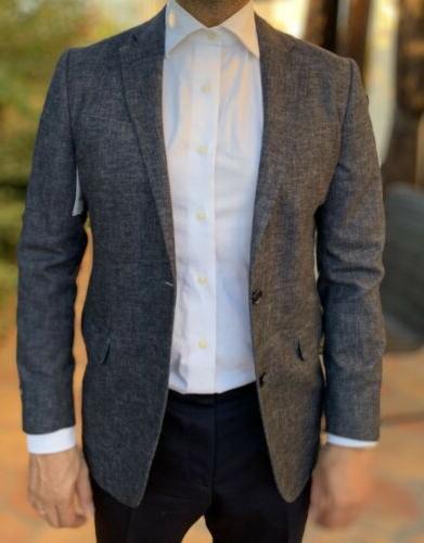 nwt mens milano fit blue blazer jacket