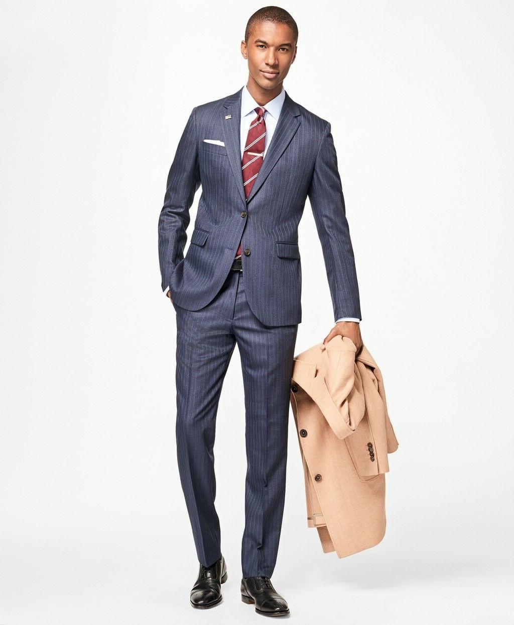 NWT Brooks Fit Textured 1818 Suit $1198