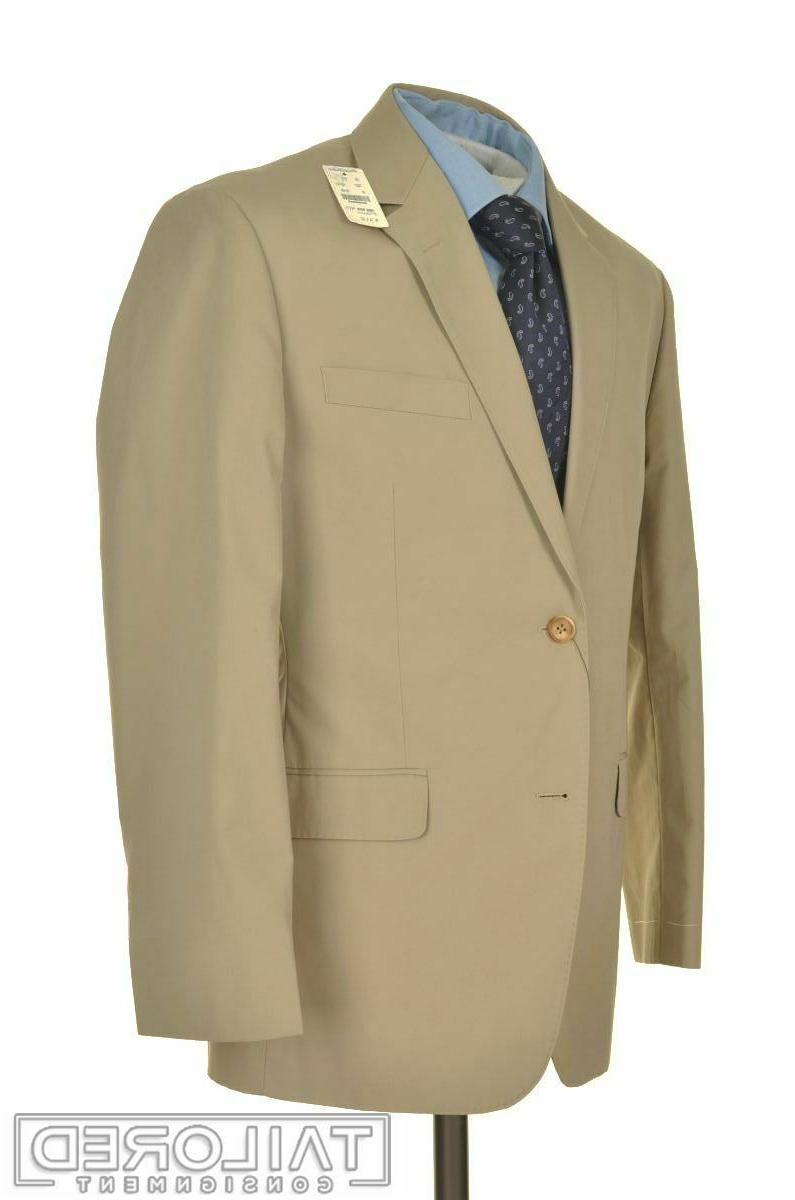 nwt milano solid beige cotton jacket pants