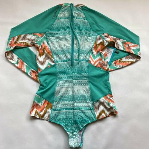NWT O'Neill Cheeky Long Seafoam Coral Surf Suit $94
