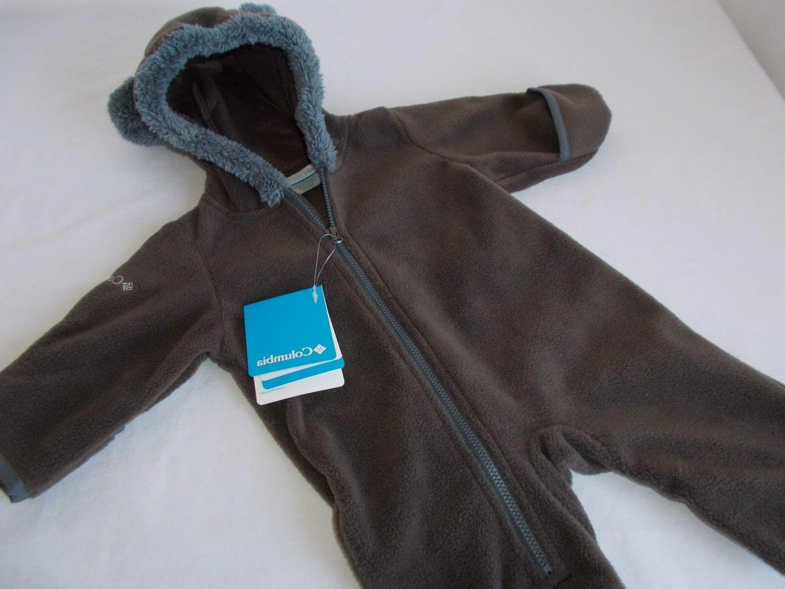 nwt snowies bear bunting fleece suit brown