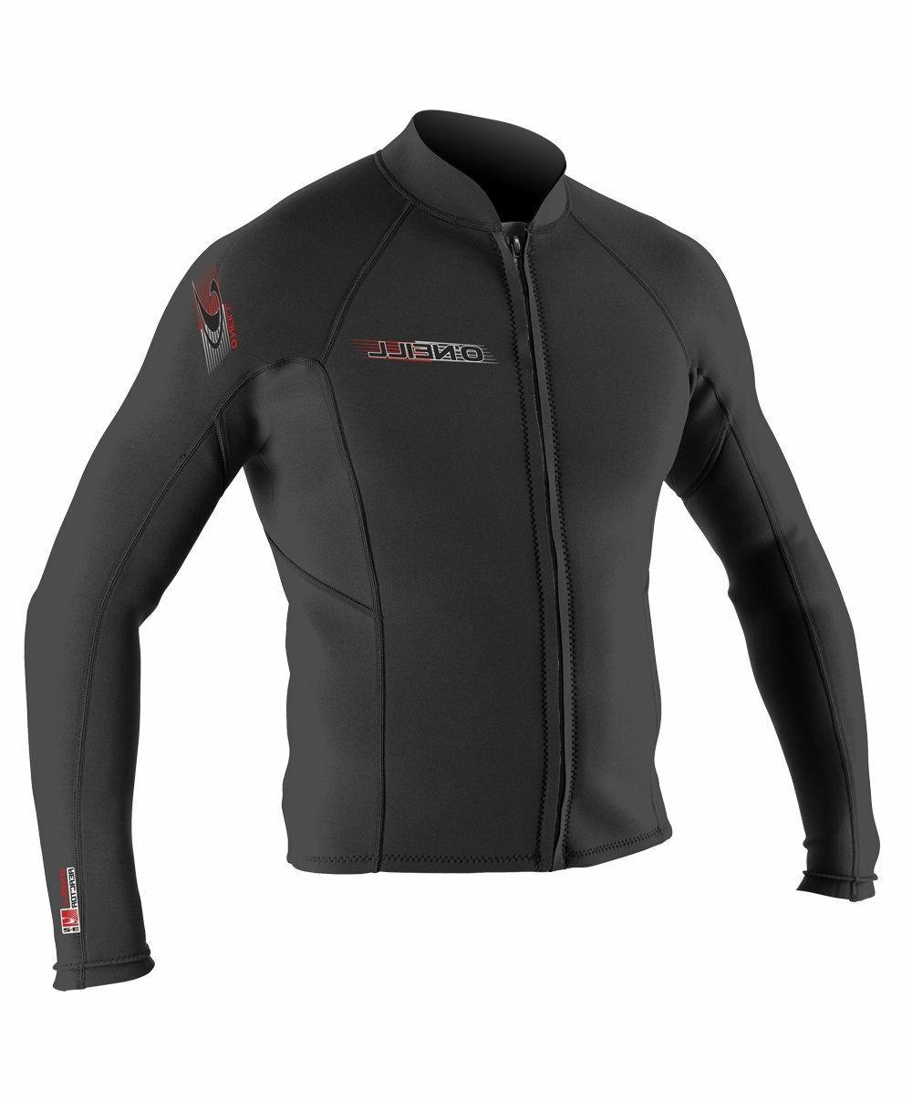 O'Neill Wetsuits Mens Superlite Jacket, Black, SMALL