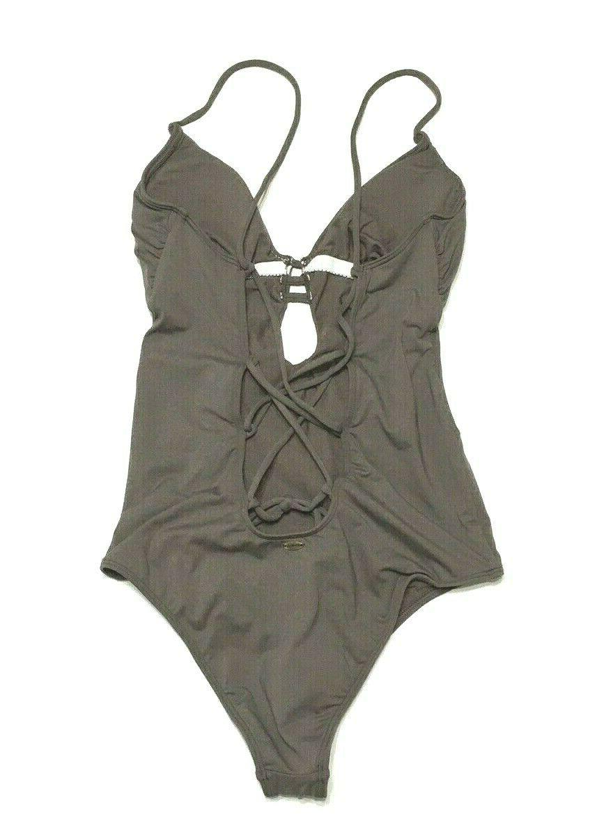 O'NEILL XS Solids One-Piece Cheeky Bathing Suit Pepper
