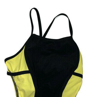 Speedo Swim Suit Sz 28 Yellow Suit