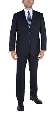 P&L Men's Two-Piece Classic Fit Office 2 Button Suit Jacket