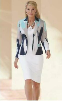 Monroe and Main Plus 18W Abstract Blue White Cotton Career C