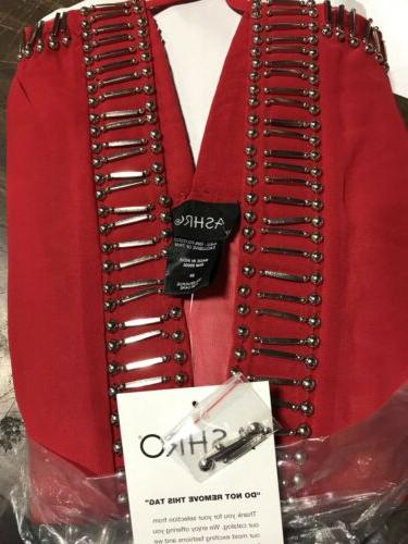 Ashro Red Formal Suit Party S L