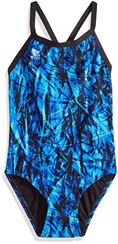 TYR Women's Sagano Diamondfit Swimming One Piece, Blue, Size