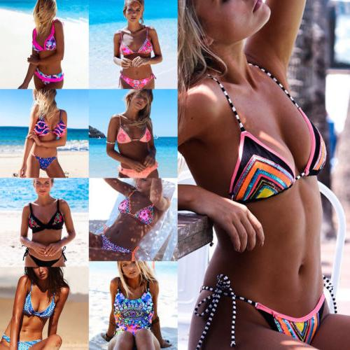 Sexy Womens Brazilian Push Up Padded Bikini Set Swimsuit Swi