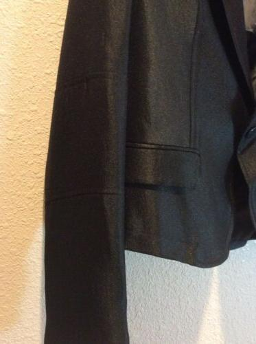 Calvin Shiny Career Suit Jacket Black Women's Size 4 New