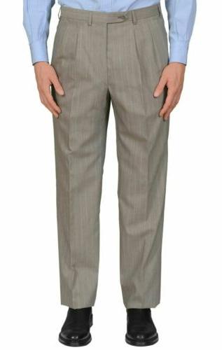 BRIONI ARAMIS Handmade Gray Wool DB EU 50 NEW
