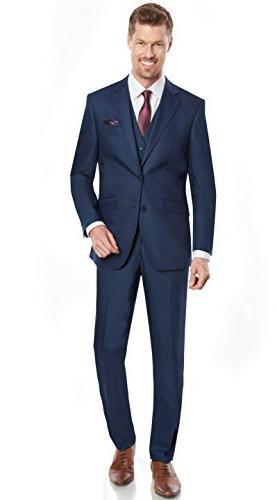 slim fit notched lapel suit
