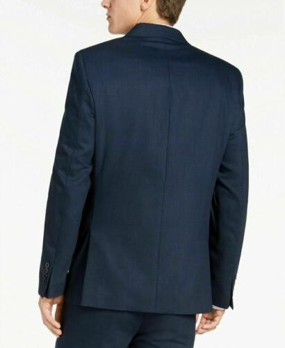 Calvin Klein Blue Charcoal Birdseye Suit Jacket