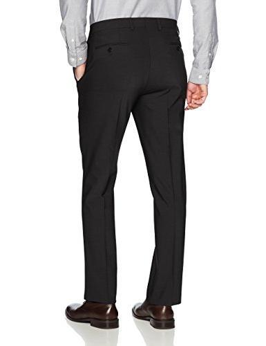 Calvin Slim Fit Wool Black Plain,