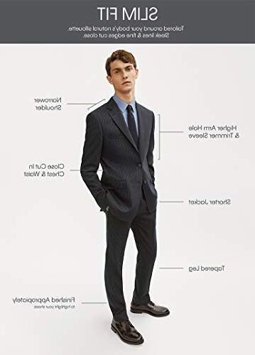 Calvin Slim Fit Stretch Suit, Black 40