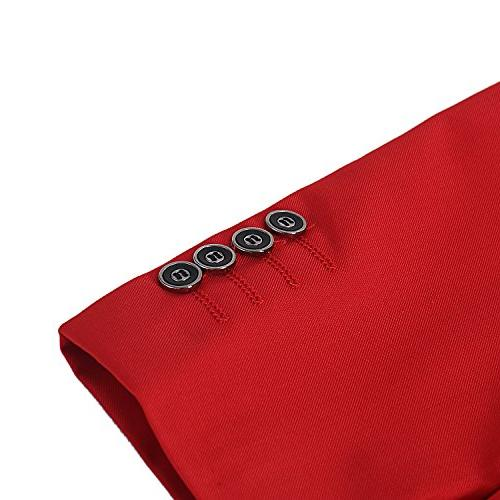 Slim Fit 2 Suit for Button Tuxedo,Red,X-Large