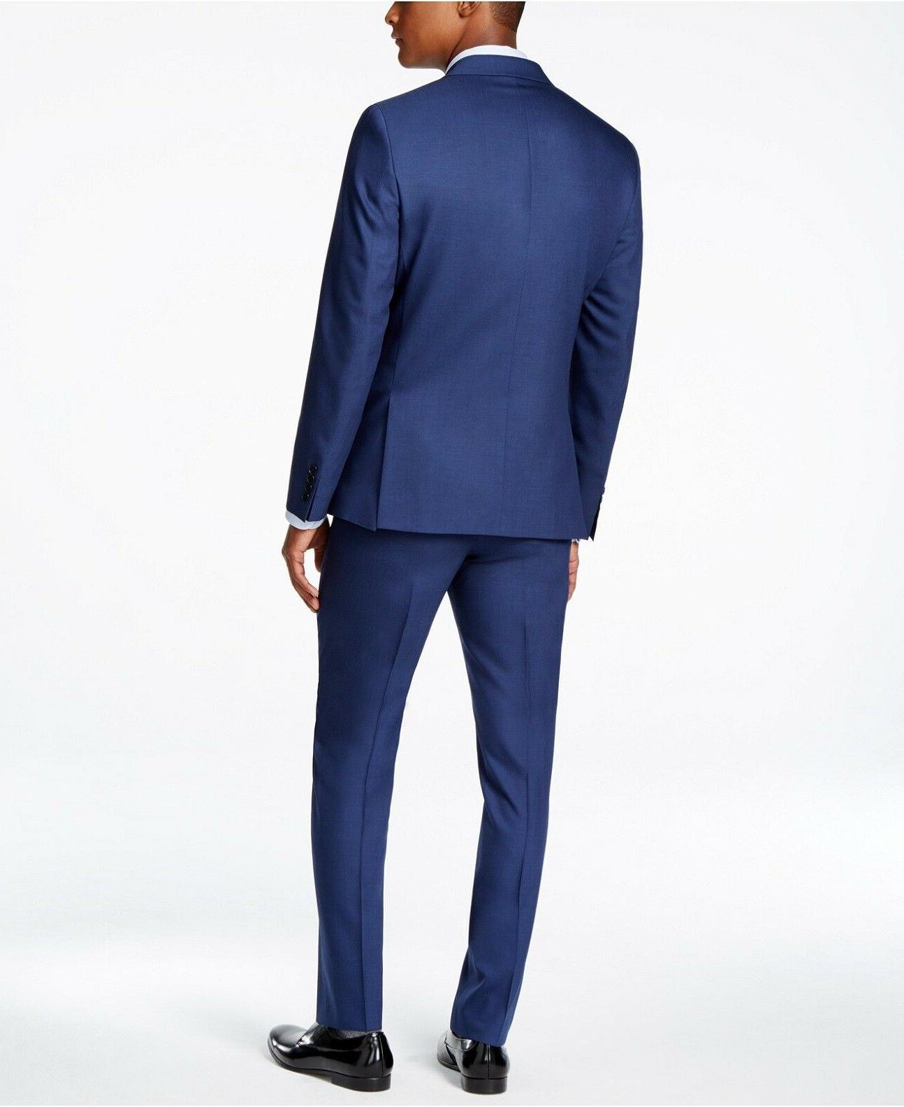 $855 KLEIN Extreme Wool Blue PIECE