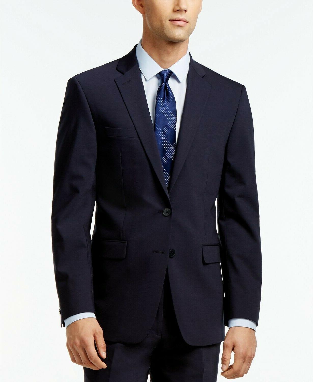 solid extreme slim fit wool suit jacket