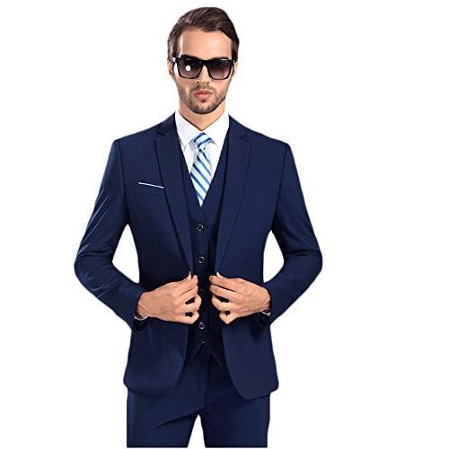 solid suit slim fit notch