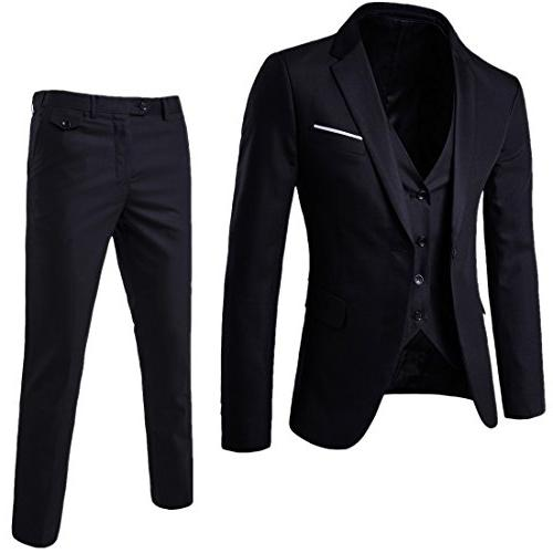 suit elegant solid one button