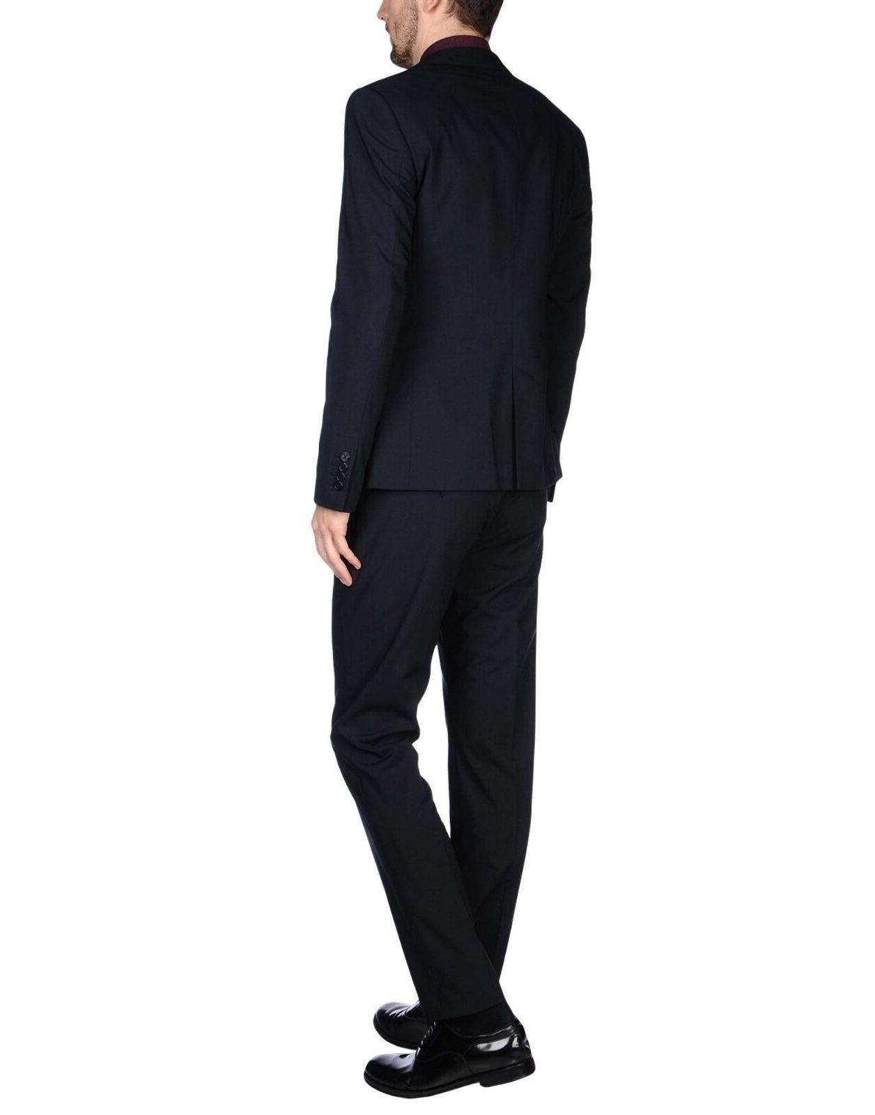 BIKKEMBERGS Lapel Single-Breasted Navy NWT $524