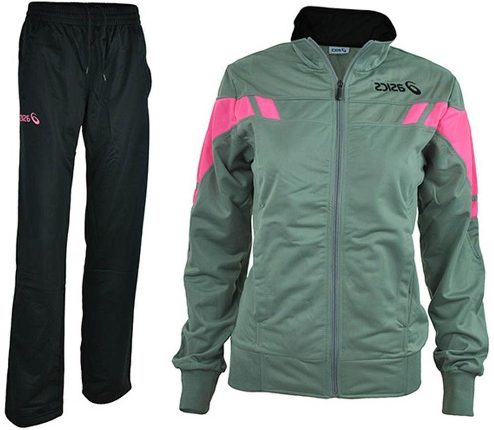 Asics Suit Women Gemma Poly Ladies Tracksuit Grey / Black