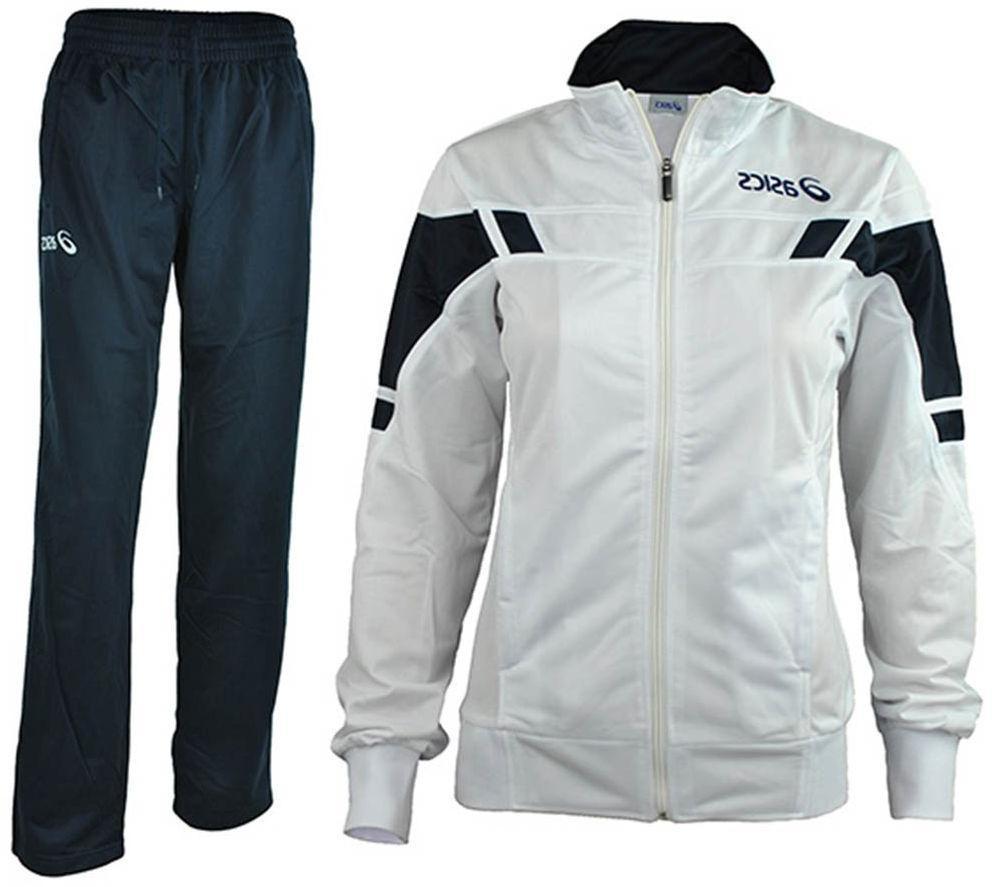 Asics Suit Women Gemma Poly Ladies Tracksuit White / Navy L