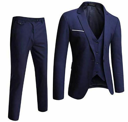 super light blue 3 piece suit vest