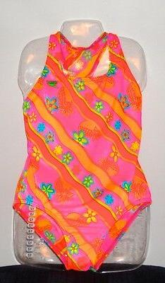 SPEEDO SWIM SUIT NYLON/SPANDEX PASTELS NWT GIRLS 12  MADE FO