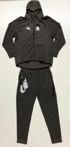 Nike Tech Sweat Fleece Hoodie & Joggers Tracksuit Brand Shipping