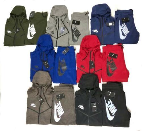 tech sweat suit fleece hoodie and joggers