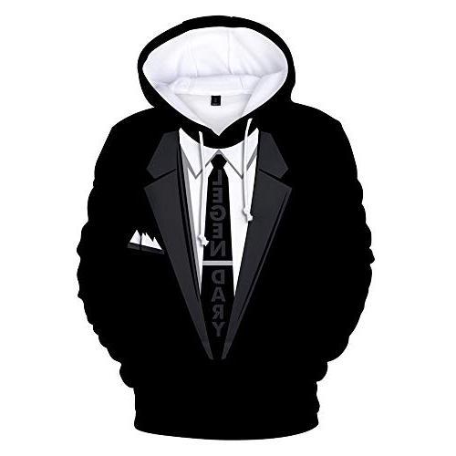 tie printed suit men s hoodie tux