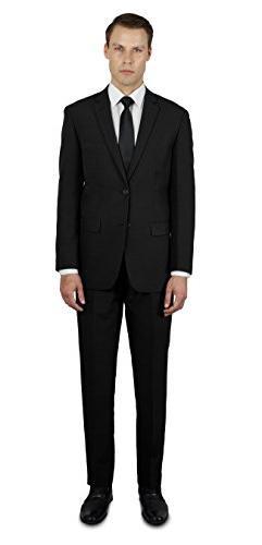 Alain Dupetit Men's Two Button Slim or Regular Fit Suit 42