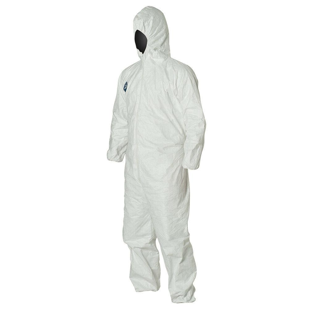 DUPONT TY127S WHITE TYVEK COVERALL BUNNY w/ ELASTIC WRIST ANKLES