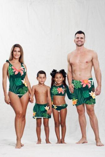 US Matching Men Floral Beachwear