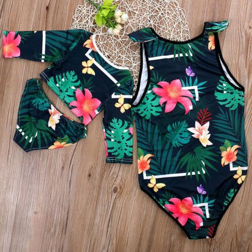 US Men Kids Vintga Floral Beachwear