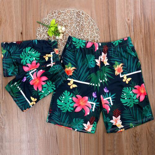 US Men Women Vintga Floral Beachwear