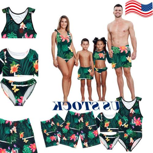 us family matching swimwear men women kids