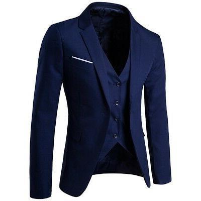 Mens Formal Wedding 3-Piece Business Coat T99