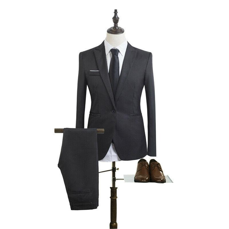 Mens Slim Fit Business Tuxedos + Party Wedding