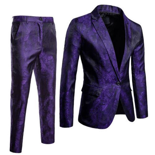 US Formal Blazer Suit Tux Waistcoat Trousers Wedding Dress