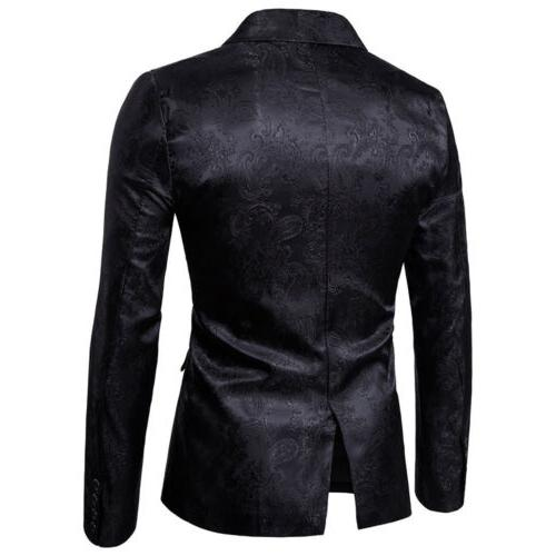 US Mens Blazer Suit Jacket Tux Waistcoat Trousers Wedding Coat