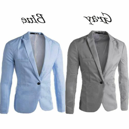 US STOCK Men's Suit Coat Regular Serge Blazer Button Business Casual