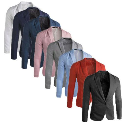 US Men's Suit Coat Serge Blazer Button