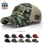 USA American Flag hat Detachable Baseball Mesh Back Military