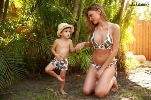 Couple Bathing Bikini Swimsuit swimming trunks