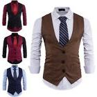 USA Fashion Mens Waistcoat Business Suit Vest Tuxedo Wedding