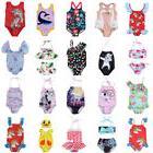 USA Kids Baby Girls Unicorn BIkini Set Swimwear Swimsuit Bat