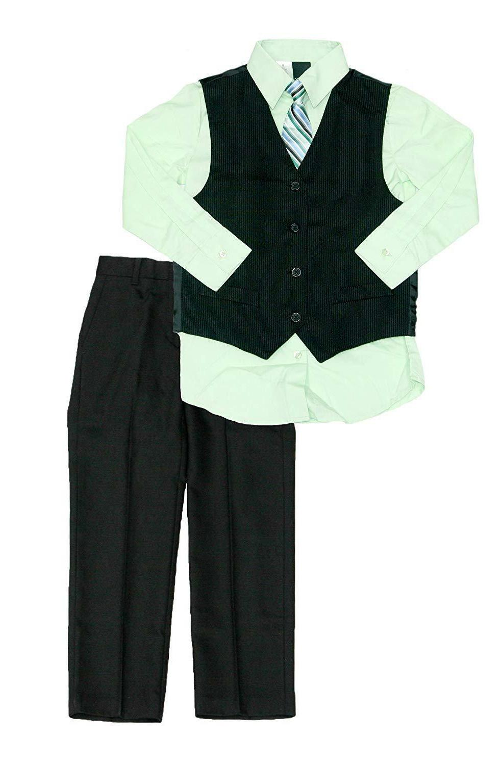 Van Heusen Little Boys' Large Plaid Vest Set